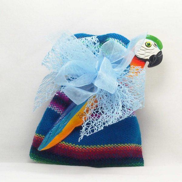 Sacchetto Aguayo con Pappagallo Blu